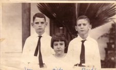 L to R: Ivan, Hilda and Edgar Gittens